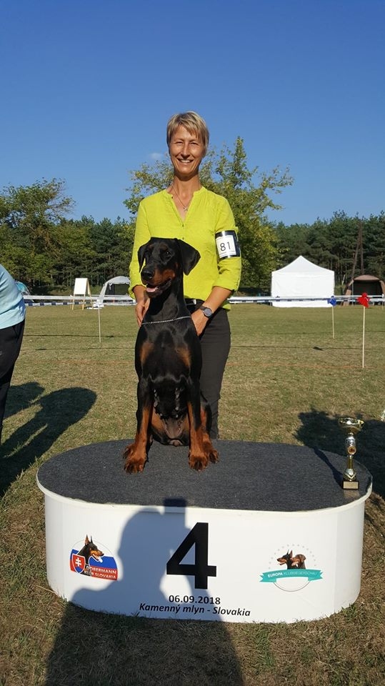 Golden Doberman Europe club winner 2018, Slovakia