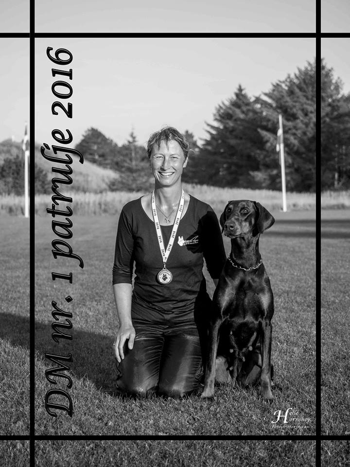 1 PLACE IN DANISH CHAMPIONSHIP FOR POLICE DOGS 2016